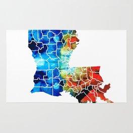 Louisiana Map - State Maps By Sharon Cummings Rug