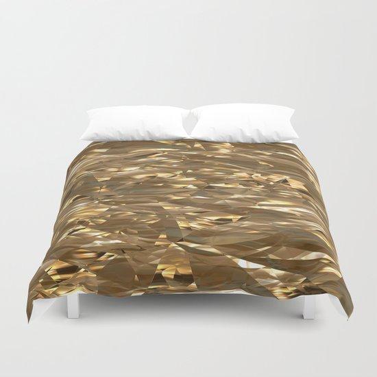 Golden Crinkle Duvet Cover