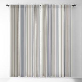 Blue grey Tan Stripes Blackout Curtain