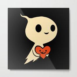 Valentine Ghost Metal Print