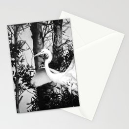 Great Egret In The Trees Stationery Cards