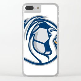 Pelican Wings Soccer Retro Clear iPhone Case