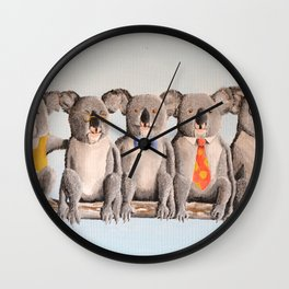 The Five Koalas Wall Clock