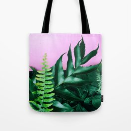 pink and foliage i Tote Bag