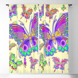 Butterfly Colorful Tattoo Style Pattern Blackout Curtain