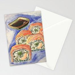 Eukaryotic Sushi Roll Stationery Cards