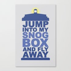 Snog Box (Tardis) Canvas Print