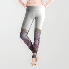 Purple Succulent Leggings