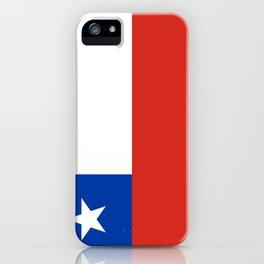 flag of Chile- -Spanish,Chile,chilean,chileno,chilena,Santiago,Valparaiso,Andes,Neruda. iPhone Case