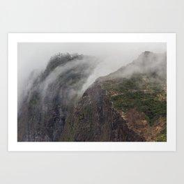 Madeira Fog Art Print