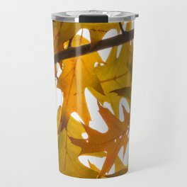 Golden oak leaves Travel Mug