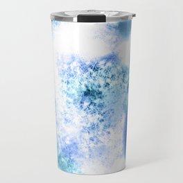 Bright Blue Marble Crystal Watercolor Travel Mug