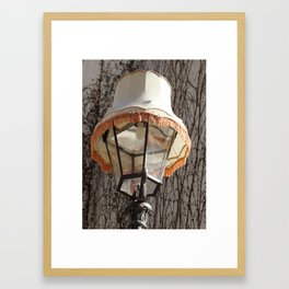 Lamp on Lamp Framed Art Print