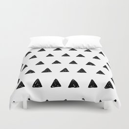 Aztec minimal triangles Duvet Cover