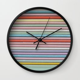 Pastel Vintage Trays Wall Clock
