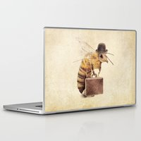 bee Laptop & iPad Skins featuring Worker Bee by Eric Fan