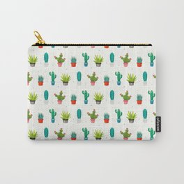 Colorful cactus succulent plant flower nature pattern Carry-All Pouch