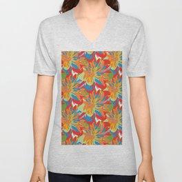 Floral 101 Unisex V-Neck
