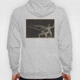 Vintage Motion Blur Photograph of a Fencer (1906) Hoody