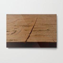 Planche de bois  Metal Print