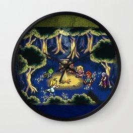 Chrono Trigger Camping Scene Wall Clock