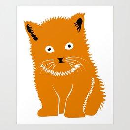Cat Lover Art Cute Orange Kitten Art Print