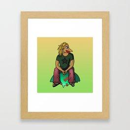 The Num Nums - Carson On Egg Framed Art Print