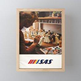 Affiche  Travel Poster Danish Figurines SAS Airlines Framed Mini Art Print