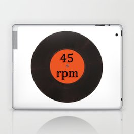 Vinyl record vintage 45 rpm 7 inch single Laptop & iPad Skin
