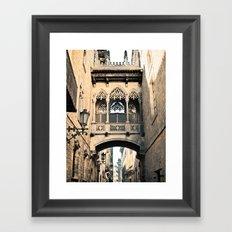 Old Barcelona Framed Art Print