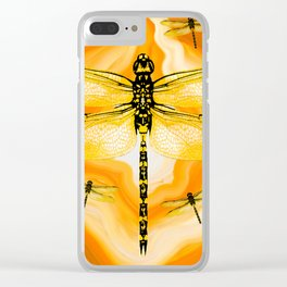 DRAGONFLY IN AGATE Clear iPhone Case