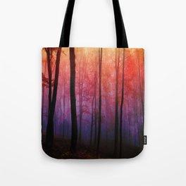 Whispering Woods, Colorful Landscape Art Tote Bag