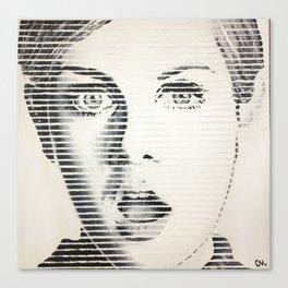 Twiggy Line Portrait Painting Canvas Print