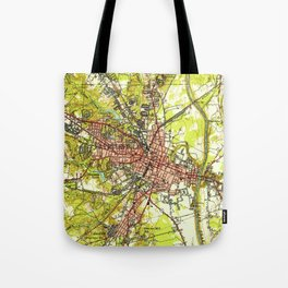 Vintage Map of Fayetteville North Carolina (1948) Tote Bag