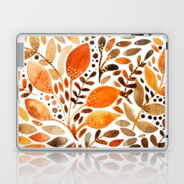 Autumn watercolor leaves Laptop & iPad Skin