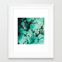 turquoise Framed Art Prints featuring Turquoise  by Laura Ruth