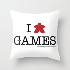 I Meeple Games Throw Pillow