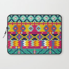 Seamless colorful aztec pattern with birds Laptop Sleeve