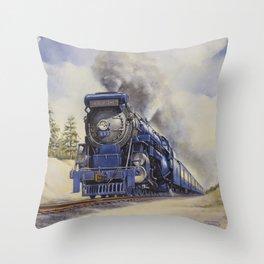 The Seashore's Finest Train Throw Pillow