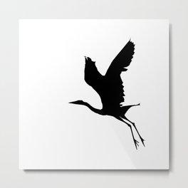 The Take Off (By Grey Heron) Metal Print