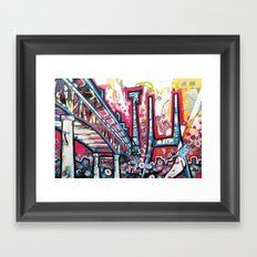 I5 over Lake Union Framed Art Print
