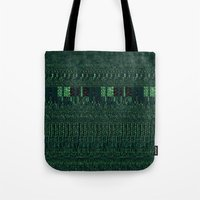 glitch Tote Bags featuring Glitch by Pudding