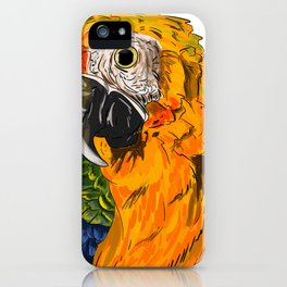 Realistic Rainbow Macaw iPhone Case