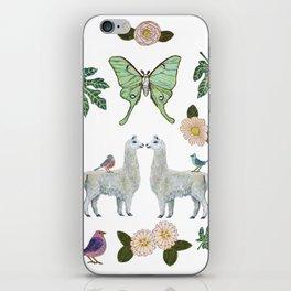 Llama and Luna Moth iPhone Skin