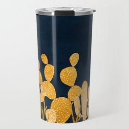Golden cactus garden Travel Mug