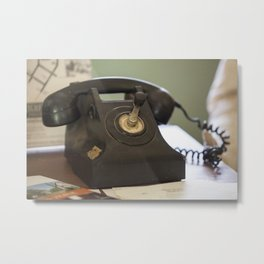 The Old Telephone Metal Print