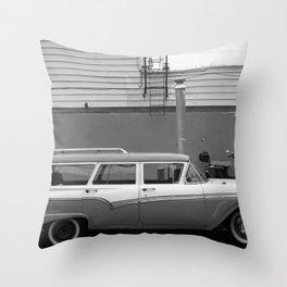 Country Sedan B&W Throw Pillow