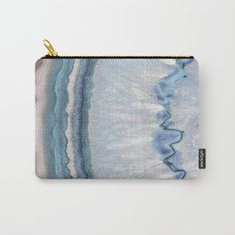 Winter Blue Agate Carry-All Pouch
