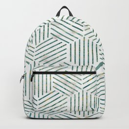Linear Pattern on Marble Background Backpack