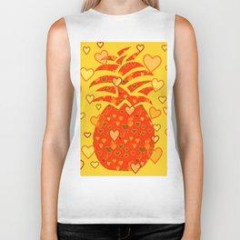 I Love Pineapple Biker Tank